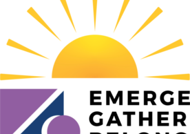 Theme for academic year with image of the sun rising behind Andover Newton's logo, which depicts the stone being rolled away from the tomb