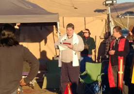 Gordon Rankin (MDiv '91) at Standing Rock