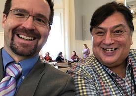 Roberto Ochoa (MDiv '17) and Ned Allyn Parker (MDiv '10)